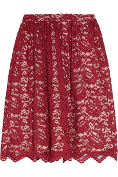 Lace skirt_red
