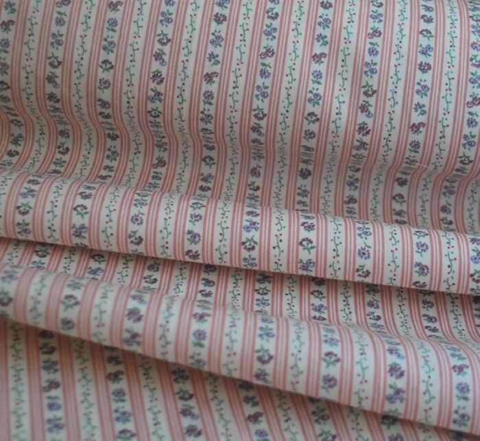 Pretty Pinstripe - Pink - Cotton Poplin