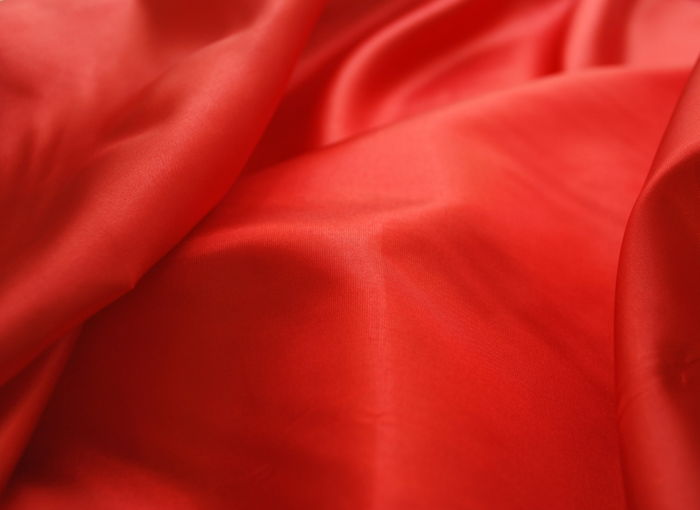 Red polyester silky fabric
