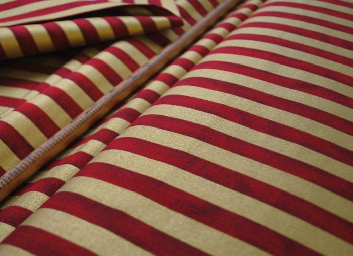 Christmas Stripe Red & Gold w